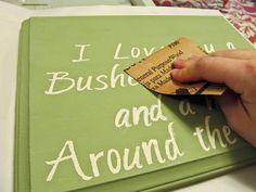 Painted wood quote signs