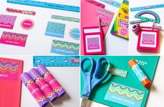 Printable Personalized School Supply Labels