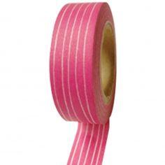 Fuchsia Vintage Stripes Washi Tape