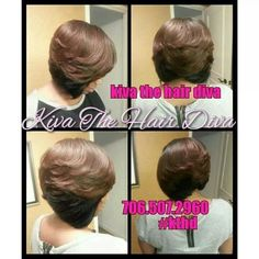 Bobs of a feather, flows together! #Kiva The Hair Diva