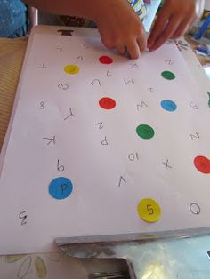 Simple and inexpensive preschool letter recognition (matching lowercase and capitals and numbers with number words).