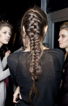 french braids, runway hair, long hair, fashion blogs, hair beauty, glamorous hair, braid hairstyles, fishtail braids, braid hair styles