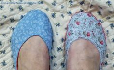 Quilting Buttercup: How to make fabric ballerina slippers