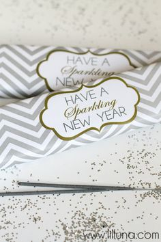 Free New Year Sparklers Prints on { lilluna.com } Cute gift idea!