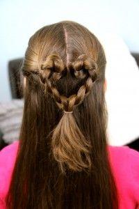 Twist-Braided Heart | Valentine's Day Hairstyles