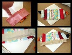easy way to make crazy quilt blocks that still end up with a pattern