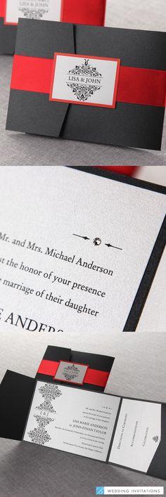 A Night at the Opera by B Wedding Invitations  #weddinginvitations  #wedding  #invitations #pocketinvitations