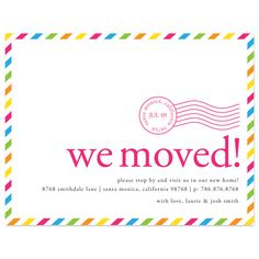move announc, moving announcements, packing tips, xmas cards, packing to move house