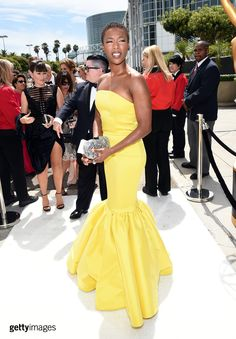 Actress Samira Wiley attends the 66th Annual Primetime Emmy Awards held at Nokia Theatre L.A. Live on August 25, 2014 in Los Angeles, California. (Photo by Michael Buckner/Getty Images)