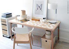 DIY idea by ikea: text on desk
