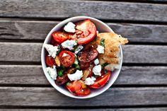 the daily muse: chorizo and tomato salad.
