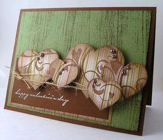 Valentines Card - Masculine by stampersuzz (Suzanne), via Flickr
