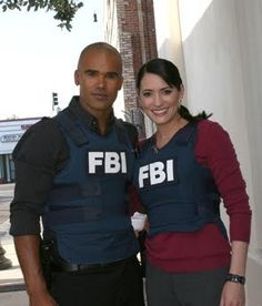 Criminal Minds: Derek Morgan & Emily Prentiss. Adorable together. Get married & make babies already...