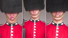 Watch: Was this Buckingham Palace guard caught making silly faces?