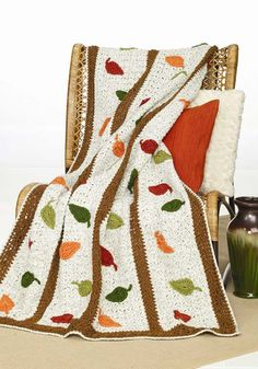 crochet blankets, leav afghan, christmas crafts, fall leaves, crochet afghans, knitting patterns, autumn leaves, crochet patterns, falling leaves