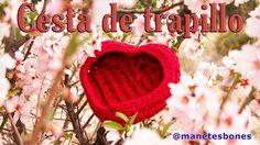 Cómo hacer una cesta de trapillo en forma de corazón | Tutorial DIY Crochet XXL