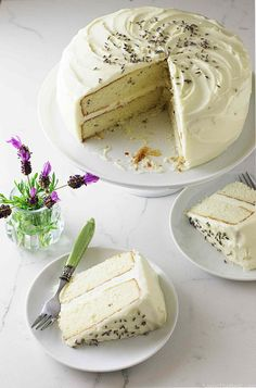 Lavender Cake with L