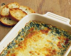 Food recipes: Hot spinach dip
