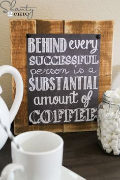 Coffee Chalkboard Sign - Free Printable