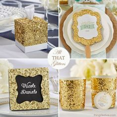 All That Glitters: Gold Wedding Favors & Decor #wedding #favors #decor #gold
