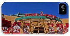 Baseballs Iphone Cases - Angel Stadium in Anaheim California iPhone Case by Clark Pierce