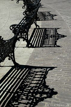Park Bench Shadows by Rob Huntley on Flickr.