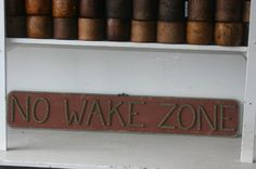 NO WAKE ZONE Nautical Sign Rope Letters Distressed Reclaimed Wood Outdoor/Indoor via Etsy