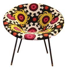 bokja vintage bucket chair: such a fun print!