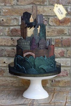 Ultimate Gotham Cake #Batman #Superhero