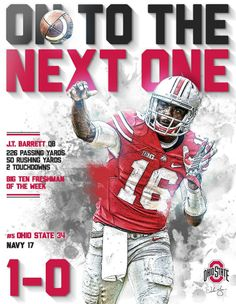 1-0 ON TO THE NEXT ONE J.T. BARRETT #16 QB-BY SAMUEL SILVERMAN.