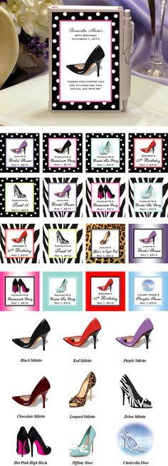 Hi-Heel gifts...  Google Image Result for http://personalizedfavors.lmk-gifts.com/Store/media/Stiletto-Shoe-Mini-Notebooks-Details-400.jpg