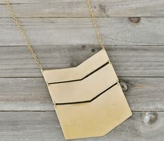 Chevron Golden Necklace.