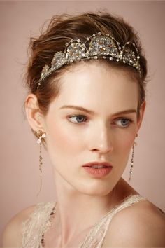 Ariadne Halo in Shoes  Accessories Headpieces at BHLDN