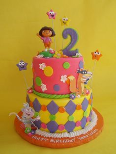 Dora and Friends Birthday Cake by CakesUniqueByAmy.com, via Flickr