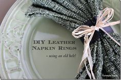 DIY:  Leather Napkin Rings