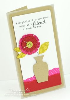 Vase Card by Nichole Heady for Papertrey Ink (July 2012)