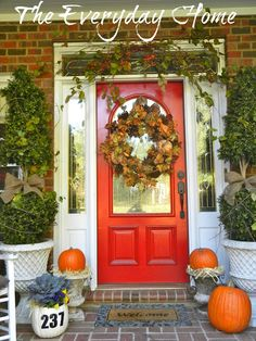 Southern Front Porch dressed in its Fall finery.