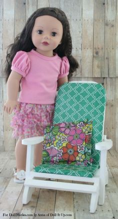 No-Sew Cushions for Doll Furniture