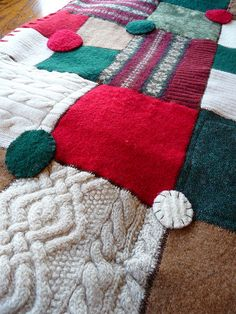 cozy Christmas sweater blanket