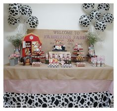 Very sweet Barnyard party idea