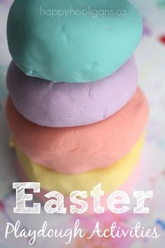 Easter Playdough Activities for Toddlers - Happy Hooligans