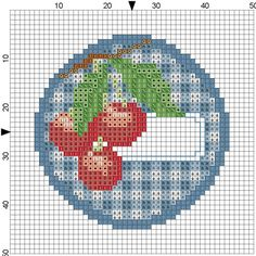 Point de croix Etiquettes *m@* Cross stitch
