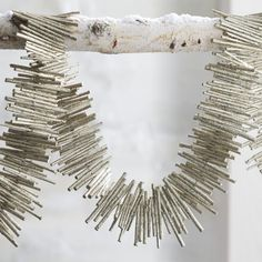 Glitter Twig Garland  | Crate and Barrel