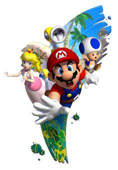 Super Mario Sunshine artwork