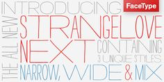 strangelove next font. I'm strangely in love.