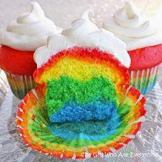Rainbow Cupcakes…because life isn't always rainbows and skittles…   DIY Skin Care