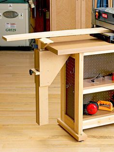 Right-Height Wood Out-Feed Support Plan