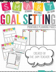 S.M.A.R.T. Goal Setting Tips  Printable Planning Pages by The 3AM Teacher!!