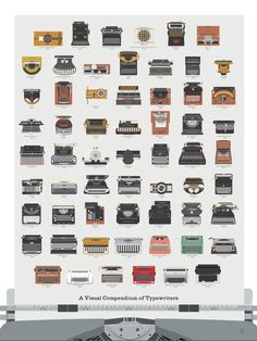 This Beautiful Illustration Shows The Evolution Of The Typewriter