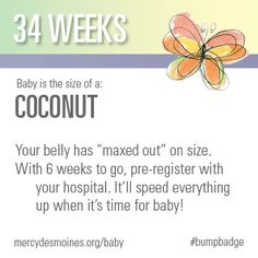 34 Weeks #bumpbadge | Mercy Medical Center - Des Moines